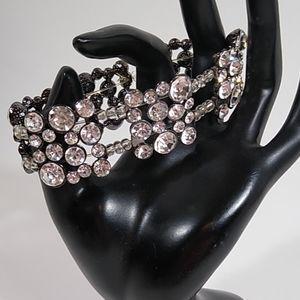 Bracelet Sparkly Rhinestone Beaded Handmade